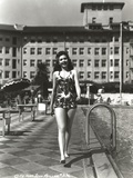Ann Miller Walking in Lingerie Classic Portrait Photo by  Movie Star News