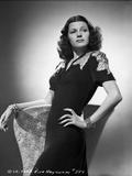Rita Hayworth in Black Dress Hand on Waist Pose Photo by A.L. Schafer