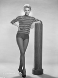 Angie Dickinson Leaning on Pole Black and White Photo by  Movie Star News