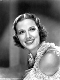 Eleanor Powell smiling in Black and White Photo by  Movie Star News