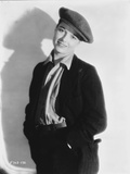 Louise Brooks Posed in Black Suit with Cap Photo by  Movie Star News