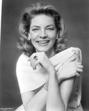 Lauren Bacall smiling in Close Up Portrait Photo by  Movie Star News