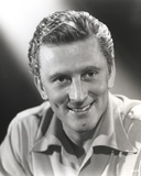 Kirk Douglas smiling Black and White Portrait Photo by  Movie Star News