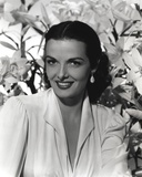 Jane Russell Close Up Black and White Portrait Photo by  Movie Star News