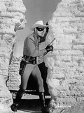 Lone Ranger Clayton Moore Riding a White Horse Photo by  Movie Star News