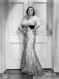 Myrna Loy in Elegant Gown in Black and White Photo by  Movie Star News