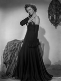 Myrna Loy in Black Gown in Classic Portrait Photo by Gaston Longet
