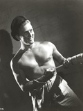 Kirk Douglas Pulling Pose Undress Portrait Photo by  Movie Star News