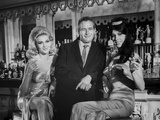 Paul Newman with Two Ladies Black and White Photo by  Movie Star News