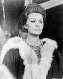 Sophia Loren wearing a Fur Scarf in a Portrait Photo autor Movie Star News