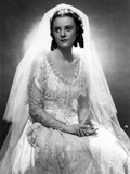 Heather Angel on an Embroidered Bridal Gown Photo by  Movie Star News