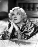 Marion Davies Laying in Bed in Black and White Photo by  Movie Star News