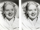 Alice Faye smiling and wearing White Blosue Photo by  Movie Star News