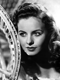 Jeanne Crain Portrait in Scoop-Neck Blouse Photo by  Movie Star News