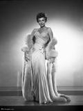 Rita Hayworth wearing a White Beautiful Gown Photo by Robert Coburn