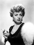 Shelley Winters Holding Cigarette in Classic Photo by  Movie Star News