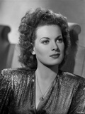 Maureen O'Hara Posed in Black Shiny Blouse Photo by E Bachrach