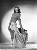 Rita Hayworth Posed in a Beautiful Blouse Photo by Robert Coburn
