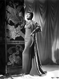 Anna Wong wearing a Long Sheath Dress with Robe Photo by  Movie Star News