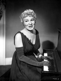 Shirley Booth on a Dress and Playing a Piano Photo by  Movie Star News