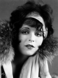 Clara Bow Posed in Furry Shawl with Headband Photo by  Movie Star News