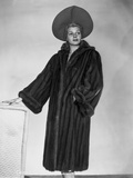 Rita Hayworth Posed with a Black Winter Coat Photo by A.L. Schafer