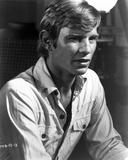 Michael York Leaning in Construction Shirt Photo by  Movie Star News