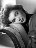 Dorothy McGuire Leaning on a Chair Portrait Photo by  Movie Star News