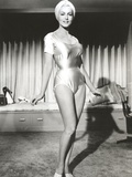 Julie Newmar wearing Lingerie Black and White Photo by  Movie Star News