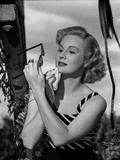 Virginia Mayo Wiping Chin with Handkerchief Photo by  Movie Star News