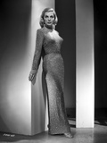 Lizabeth Scott Posed in Long Sparkling Dress Photo by  Movie Star News