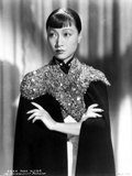 Anna Wong wearing a Glittering Black Garment Photo by  Movie Star News
