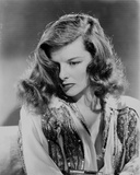 Katharine Hepburn posed in Black and White Photo by  Movie Star News