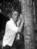 Rossano Brazzi Leaning on Tree With White Polo Photo by  Movie Star News