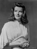 Katharine Hepburn Black Background Portrait Foto von Florence Vandamm
