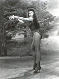 Julie Newmar Posed Side View in Black Lingerie Photo by  Movie Star News