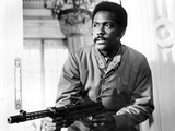 Richard Roundtree Posed in Sweater With Gun Photo by  Movie Star News