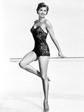 Esther Williams smiling in Black Lingerie Photo by  Movie Star News