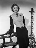 Myrna Loy Leaning in Long Sleeve Dress Photo by Gaston Longet