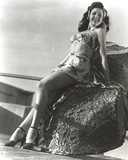 Ann Miller Posed Leaning in Classic Portrait Photo by  Movie Star News