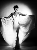 Diahann Carroll Portrait in White Wide Dress Photo by  Movie Star News