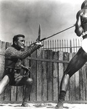 Kirk Douglas Spear Vs. Sword Fighting Scene Photo by  Movie Star News