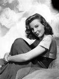 June Allyson Side View Pose Seated Portrait Photo by  Movie Star News