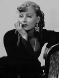 Greta Garbo Lady in Black Leaning on Chair Photo by  Movie Star News