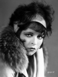 Clara Bow Posed in Fur Coat Classic Portrait Photo by ER Richee