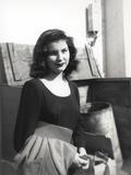 Debra Paget in Black Dress Black and White Photo af Movie Star News