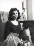 Debra Paget in Black Dress Black and White Photo by  Movie Star News