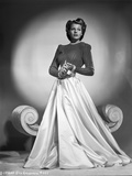 Rita Hayworth Posed in Dress with Long Skirt Photo by Robert Coburn
