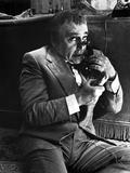 Herbert Lom Talking in Suit With Telephone Photo by  Movie Star News