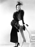 Ginger Rogers Posed wearing Black Fur Gown Photo by  Movie Star News